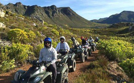 Quadbiking in the Overberg mountains